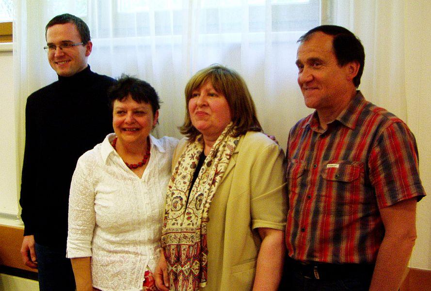 Zleva: M.Šámal, M.Secká, H.Basler aL.Effenberk, klikem zvětšíte