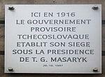 Pamětní tabule na rue Bonaparte v Paříži