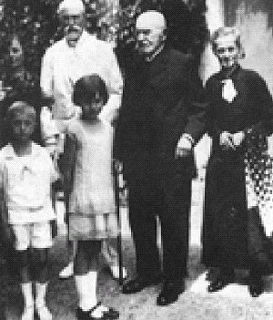 TGM na návštěvě u A. Jiráska v Hronově