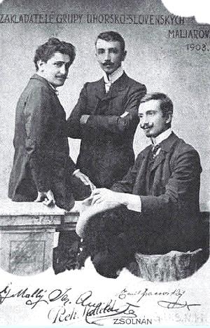 Zleva: G. Mallý, J. Augusta, E. Pacovský